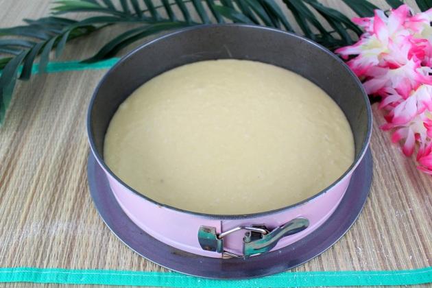 enfourner gâteau moelleux coco