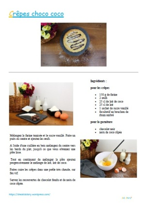 recette crêpes choco coco